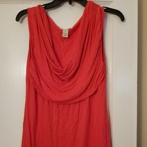 Coral/pink sleeveless top